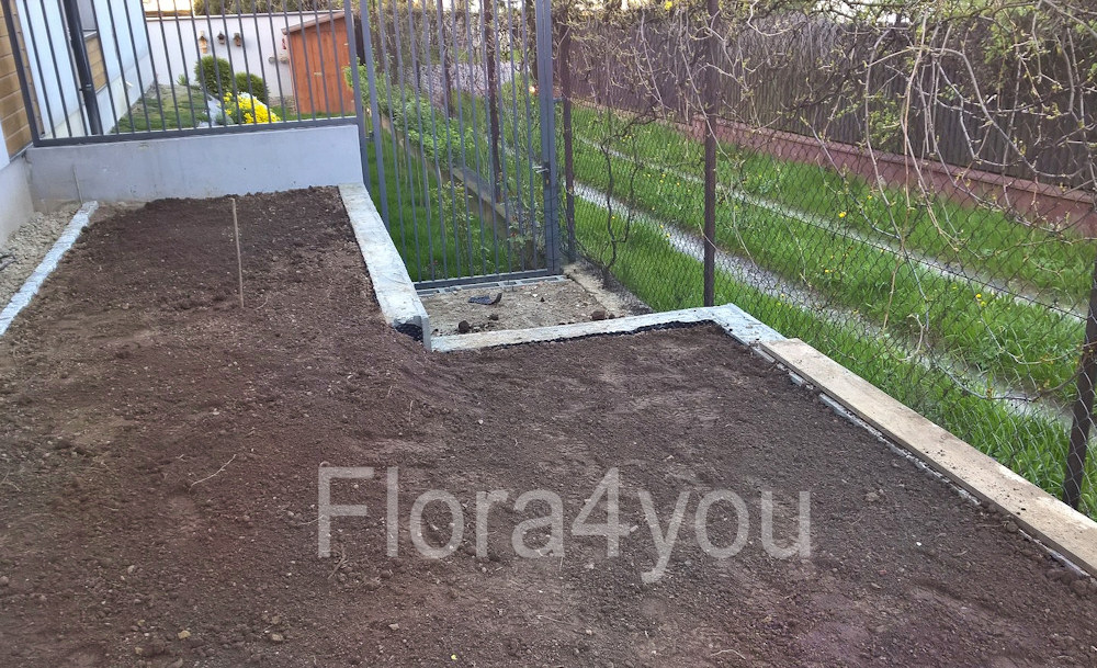 Przygotowany teren pod dalsze prace w ogrodzie czyli nasadzenia i trawnik