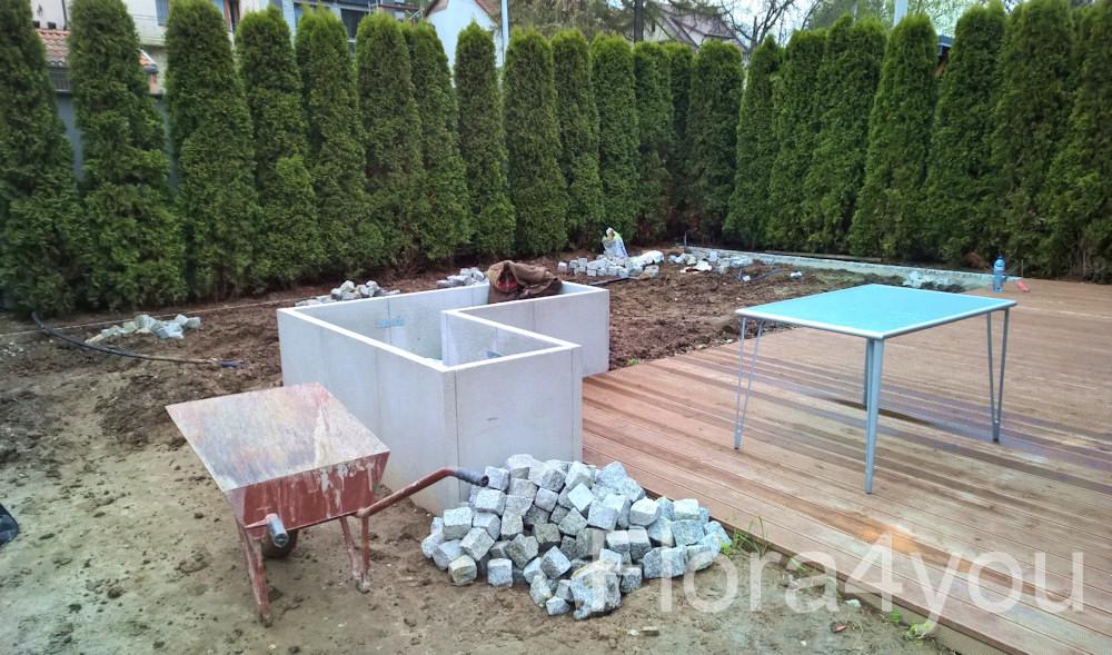 Zakładanie ogrodu, prace ziemnie.